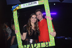 photobooth at teen party in party venue
