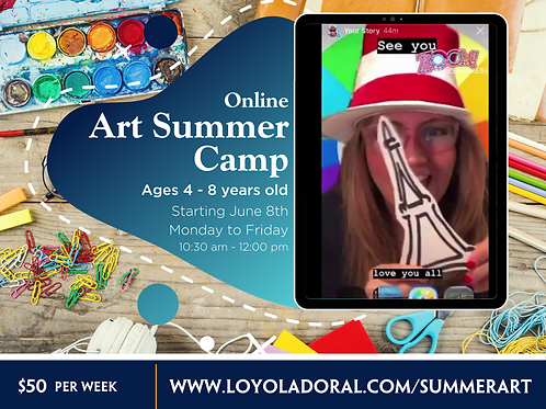 Week 1 Online Art Camp (June 8 - 12)