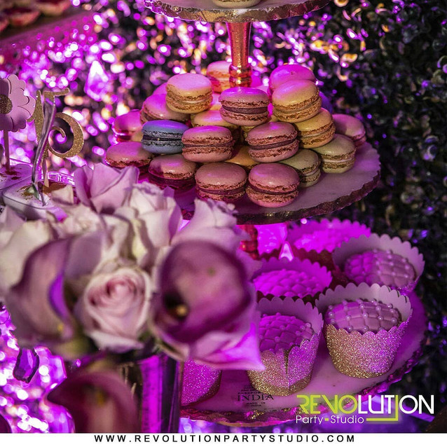 catering service with snacks in party room