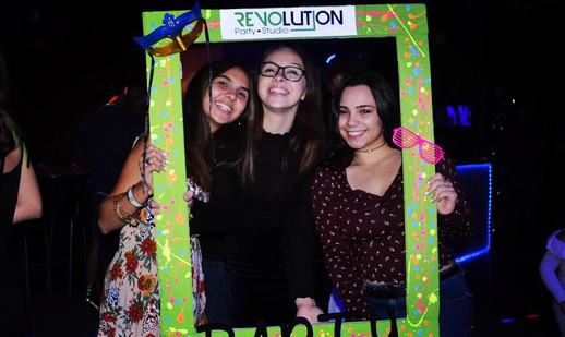 photo booth in teen party in miami