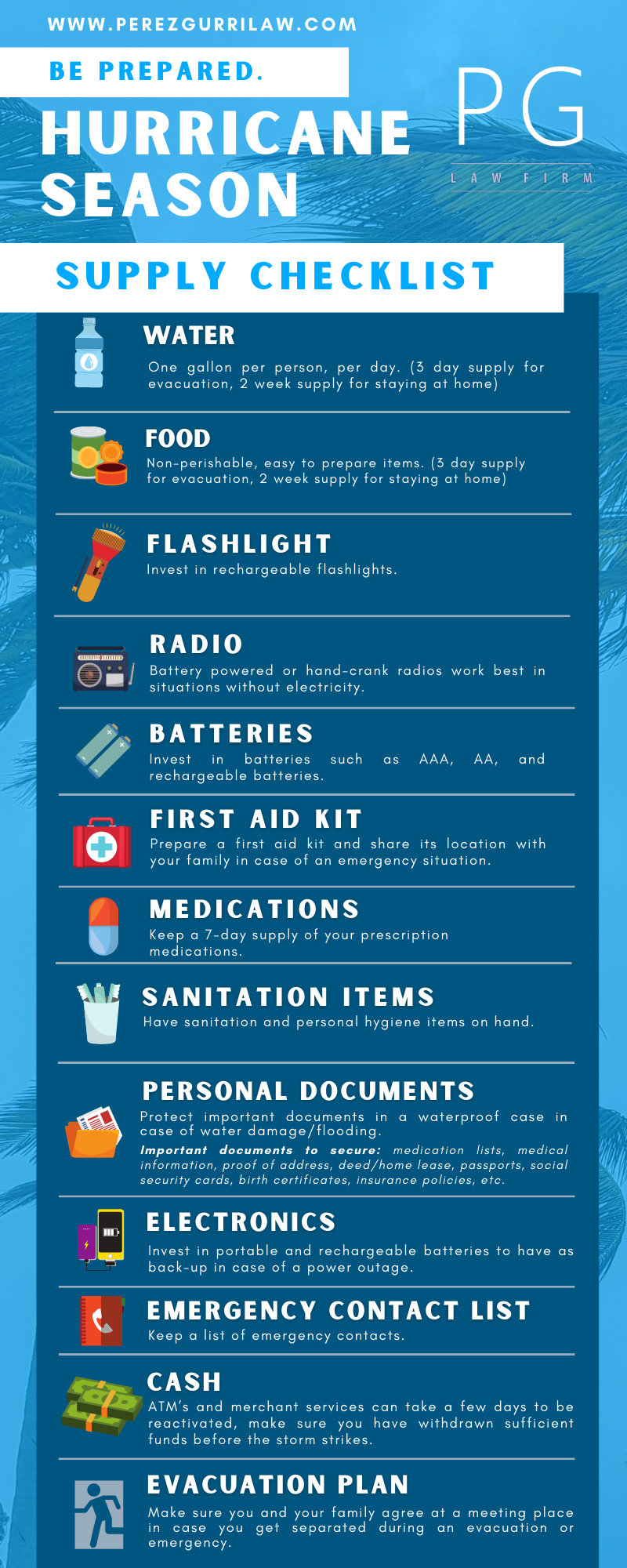 Hurricane Season 2019 Florida - Supply Checklist