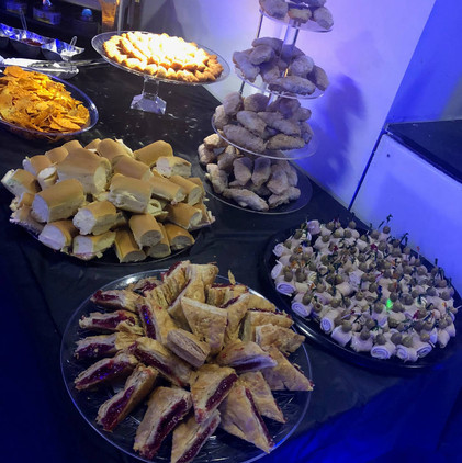 table with food at party catering service