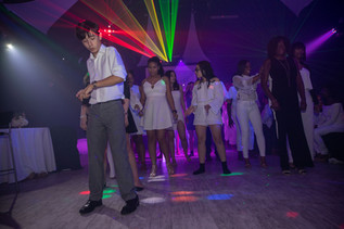 boy dancing at sweet 16 party