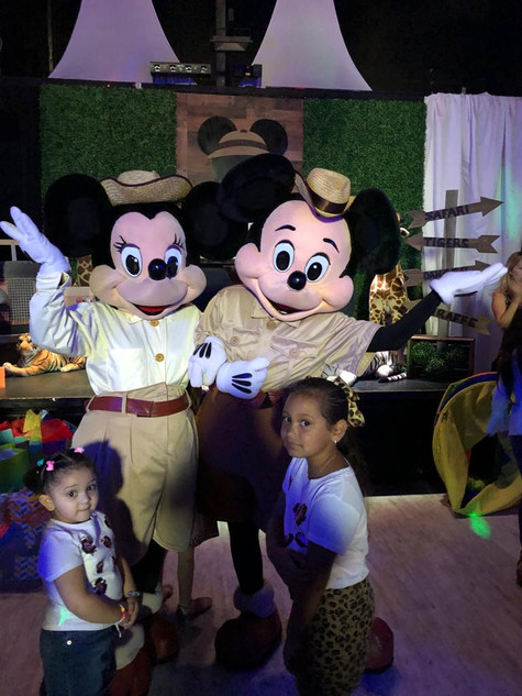 Mickey themedsafari baby shower in event venue