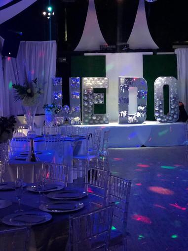 Wedding lettering decoration