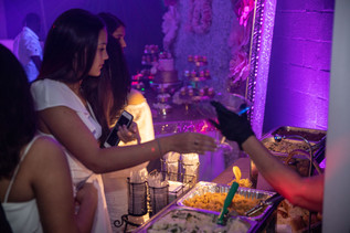 catering service in event hall sweet 16 party