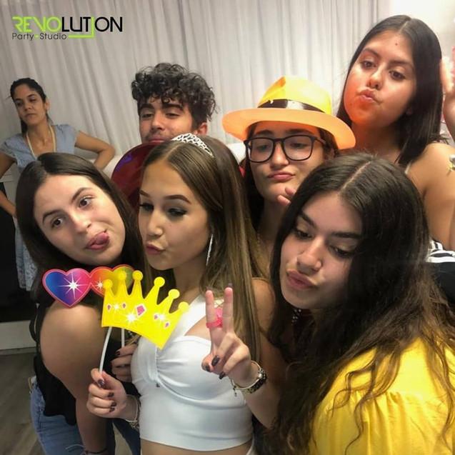 birthday girl friends selfie at 15th birthday