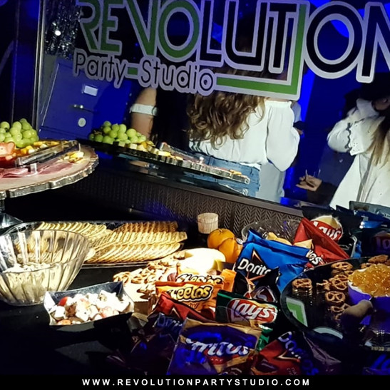 table with sweets for guests catering service