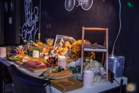 table with food for events catering service