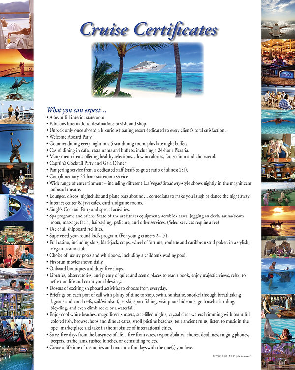 The Giacalone Team Real Estate Services w/Rockstar Realty Cruise Offer