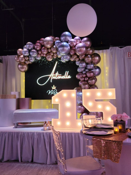 15th birthday party in a party hall in kendall