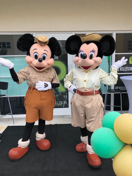 Mickey and minnie at safari themed baby shower