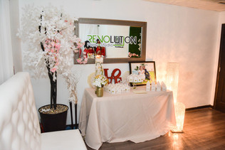 Decorated table for wedding hall in Miami