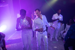 Man dancing in an event venue