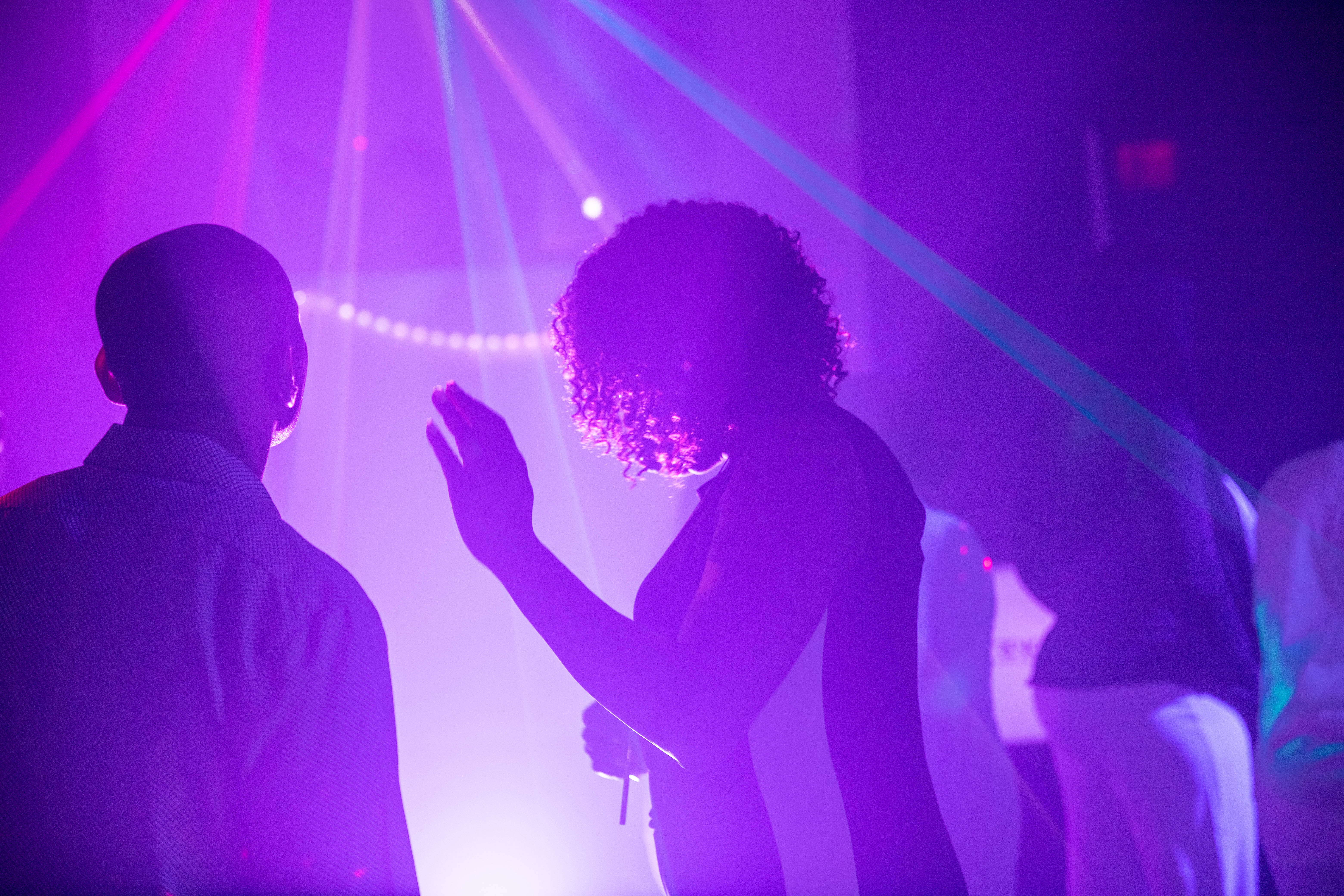 Disco ambient light in a party venue