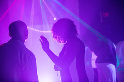 Disco ambient light in a event venue