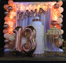 13th Birthday Party in banquet hall in miami