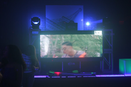 led display for parties at party hall