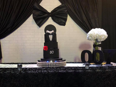 James Bond themed 3 story cake