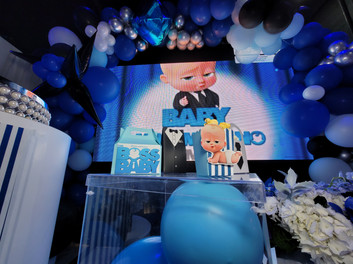baby boss themed baby shower at party venue