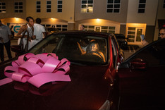sweet 16 birthday gift car at party hall in miami