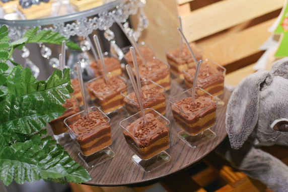 Chocolate desserts at party catering service