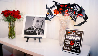 themed decorated table agent 007 event venue