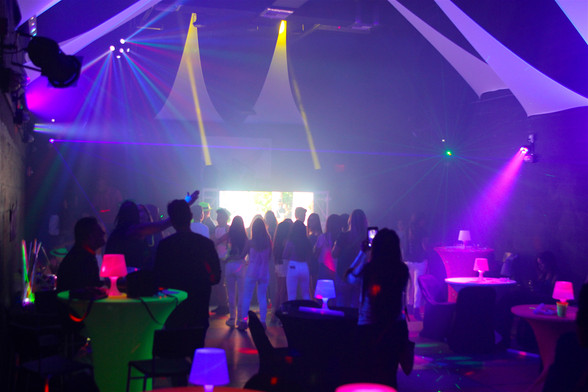 neon theme party at event venue