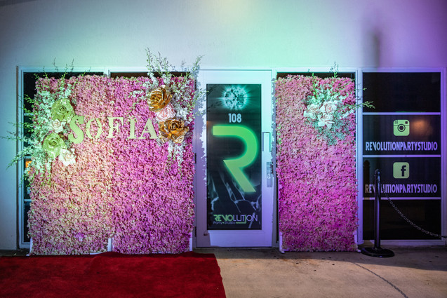 decoration for event hall entrance sweet 16 party