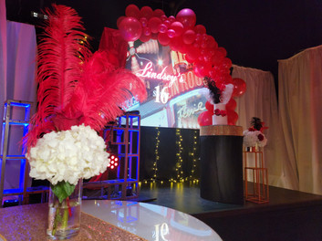 Sweet 16 party in banquet hall in miami