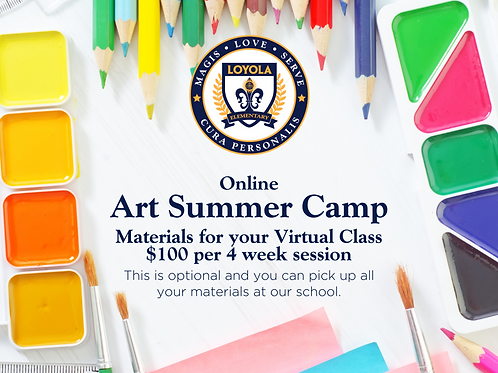 Materials for Online Art Summer Camp