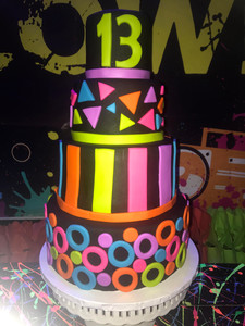 3 story cake for 13th birthday