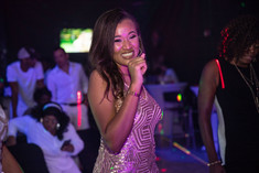 birthday girl dancing at banquet hall in kendall