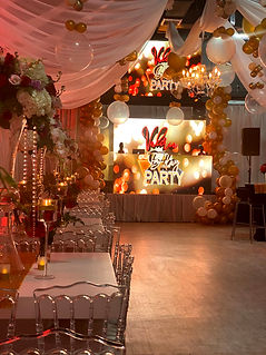 event hall in miami gold decorated party