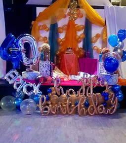 40th birthday balloon arrangement