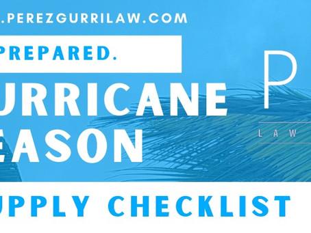 Hurricane Season 2021 - Supply Checklist