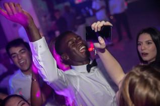 boy singing at sweet 16 party