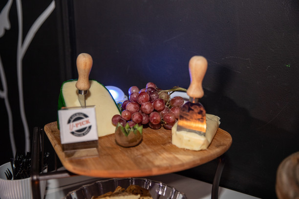 cheese and grapes at event venue party