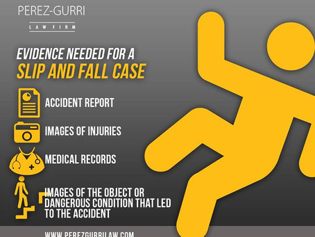 Evidence Needed for a Slip & Fall Case