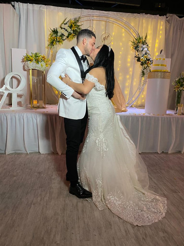 couple getting married at wedding venue