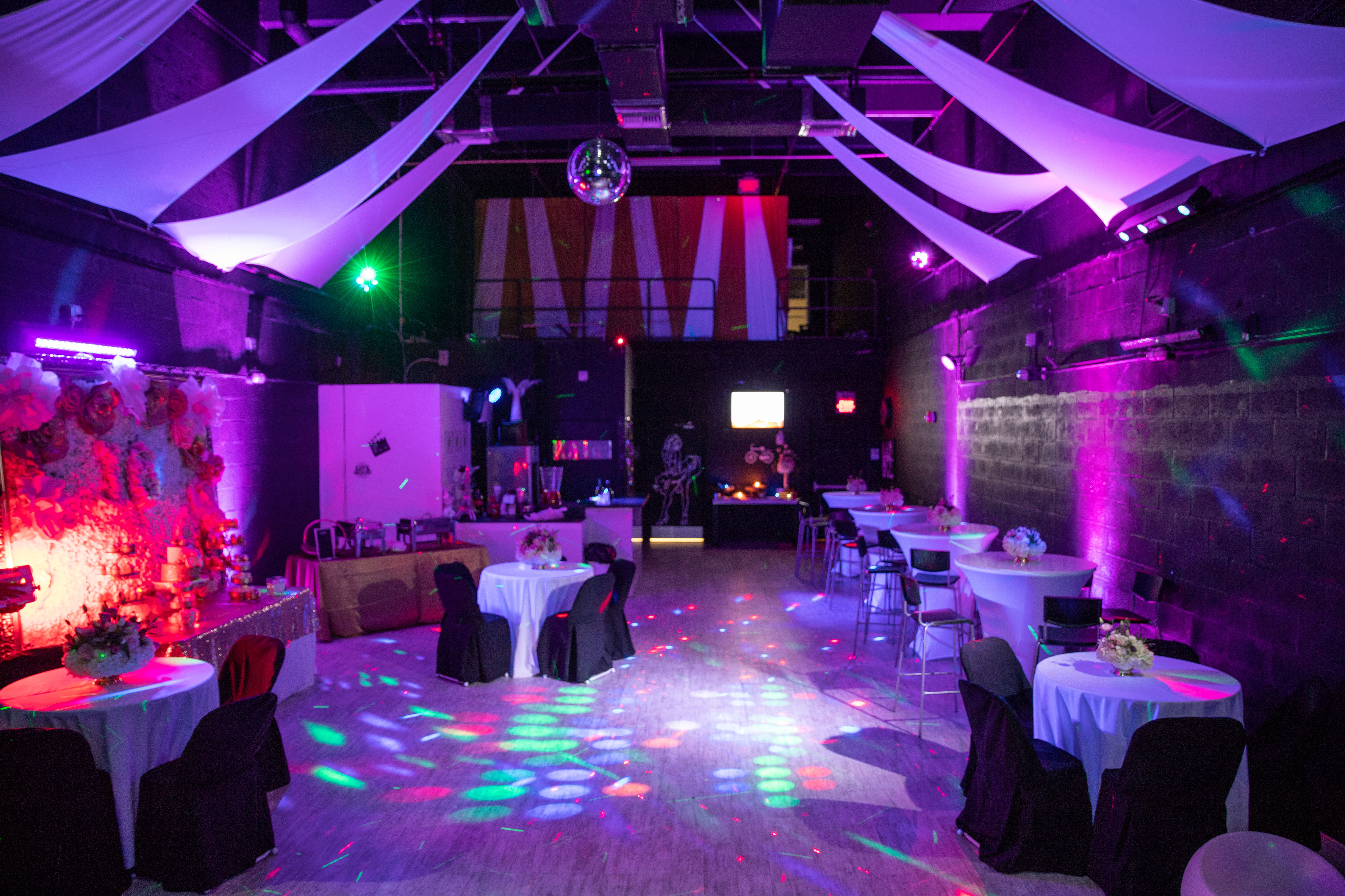 Pink decorated party venue in Kendall Miami