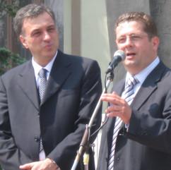 Predsjednik Filip Vujanović i Nenad Stevović, 2009.