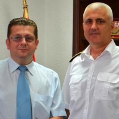 Nenad Stevović i vice admiral Samardžić