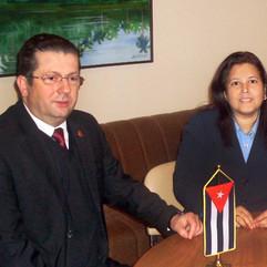Sa ambasadorkom Kube, 2012.