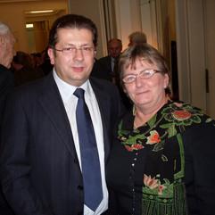 Sa ambasadorkom Belgije, 2008.