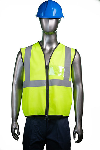 Reflective vest - Zip front with I.D. pocket.