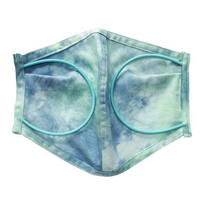 Tie dye 2 color 3D Mask GR  Size L