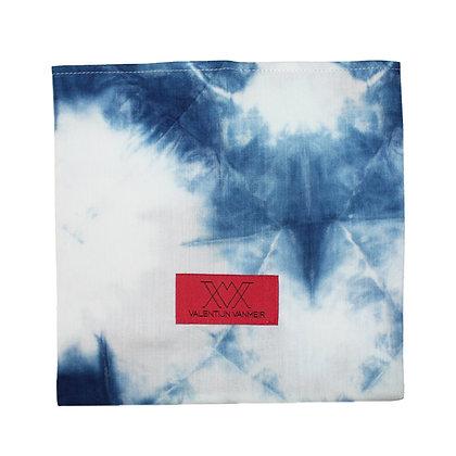Indigo dye origami Mask case