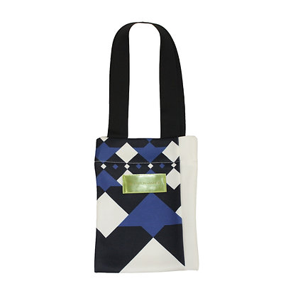 Logo argyle B5 patchwork Bag