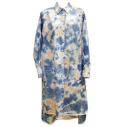 Drop sleeve tie dye sh Dress